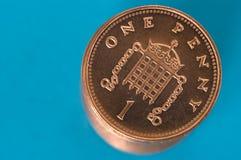 Pile de pièces de monnaie de penny Image libre de droits