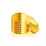 Pile de pièces de monnaie, vecteur Image stock