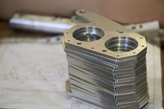 Pile de pièces en métal image stock