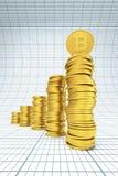 Pile de pièces de monnaie de bitcoin Image libre de droits