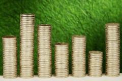 Pile de pièces de monnaie Image stock