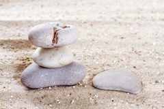 Pile de pierres Photographie stock