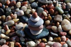 Pile de pierres de caillou Photos stock