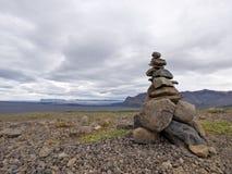 Pile de pierres de zen en Islande Image libre de droits