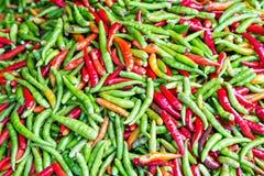 Pile de piment frais Photo stock