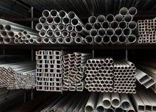 Pile de pipe en métal images libres de droits