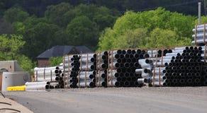 Pile de pipes Photographie stock libre de droits