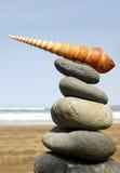 Pile de plage Image libre de droits