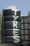 Pile de pneus Images stock