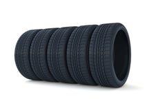 Pile de pneus de voiture Photo stock