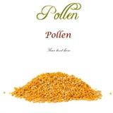 Pile de pollen d'abeille d'isolement Images libres de droits