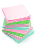 Pile de post-its Photographie stock libre de droits