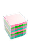Pile de post-its dans un conteneur Photographie stock libre de droits