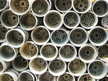Pile de pots de fleur Photo stock
