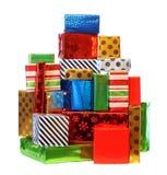 Pile de présents colorés Images stock