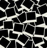 Pile de projectiles polaroïd blanc de photo Images stock