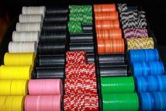Pile de puces de casino Photographie stock libre de droits
