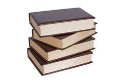 Pile de quatre vieux livres photographie stock libre de droits
