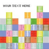 Pile de récipient d'art de pixel Images libres de droits