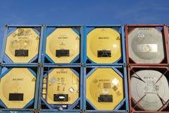 Pile de récipient de réservoir Photos libres de droits