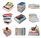 Pile de ramassage de livres Images libres de droits