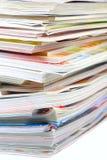 Pile de revue Photos libres de droits