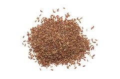 Pile de riz brun Image libre de droits