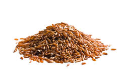Pile de riz rouge Photographie stock
