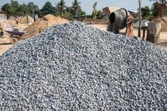 Pile de roche de construction photos stock