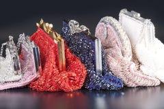 Pile de sac de soirée perlé Photographie stock