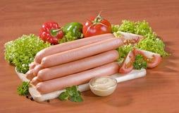 Pile de saucisses Images libres de droits