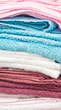 Pile de serviettes Photographie stock
