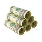Pile de stockage d'argent Image stock