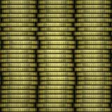 Pile de texture d'or de pièces de monnaie Illustration de Vecteur