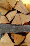 Pile de texture en bois Photos libres de droits