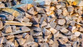 Pile de texture de fond de bois de chauffage photo libre de droits