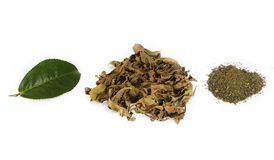Pile de thé vert Photos stock