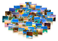 Pile de tirs de plage des Maldives et de x28 ; mon photos& x29 ; Photographie stock libre de droits