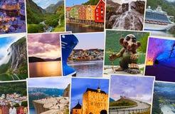Pile de tirs de voyage de la Norvège Images stock