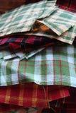 Pile de tissu pour piquer Photo libre de droits
