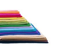 Pile de tissu de toile multicolore Image libre de droits