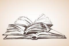 Pile de trois livres ouverts Photos stock