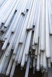 Pile de tubes hors d'usage de lampe au néon images libres de droits