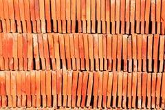 Pile de tuile de toit rouge Image stock