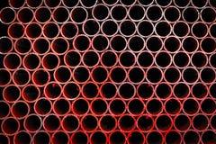 Pile de tuyaux de fer Photos libres de droits