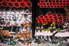 Pile de tuyaux de fer Image stock