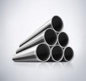Pile de tuyaux en métal Photographie stock libre de droits