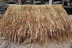Pile de vétiver pour le toit de hutte panneau de vétiver pour le toit de hutte, panneau de hutte de toit de paille Images libres de droits