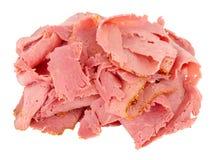 Pile de viande légèrement coupée en tranches de pastrami photo libre de droits
