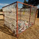 Pile de vieilles bouteilles en plastique Images libres de droits